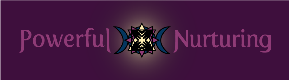 Powerful Nurturing logo - dark background