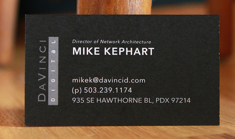 DaVinci business card back